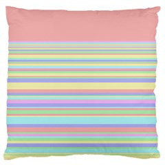 All Ratios Color Rainbow Pink Yellow Blue Green Large Cushion Case (two Sides) by Mariart