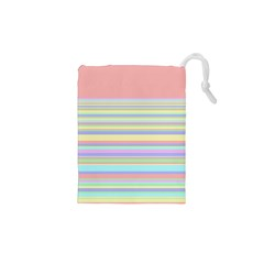 All Ratios Color Rainbow Pink Yellow Blue Green Drawstring Pouches (xs)  by Mariart