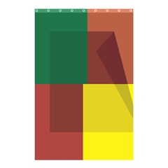 Albers Out Plaid Green Pink Yellow Red Line Shower Curtain 48  X 72  (small)  by Mariart