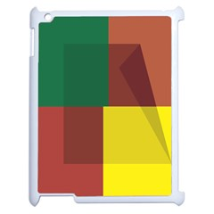 Albers Out Plaid Green Pink Yellow Red Line Apple Ipad 2 Case (white) by Mariart