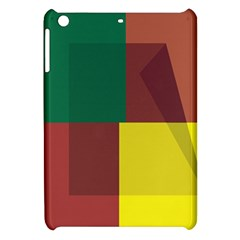 Albers Out Plaid Green Pink Yellow Red Line Apple Ipad Mini Hardshell Case by Mariart