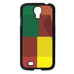 Albers Out Plaid Green Pink Yellow Red Line Samsung Galaxy S4 I9500/ I9505 Case (black) by Mariart