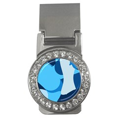 Blue Polka Money Clips (cz)  by Mariart
