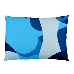 Blue Polka Pillow Case by Mariart