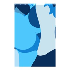 Blue Polka Shower Curtain 48  X 72  (small)  by Mariart