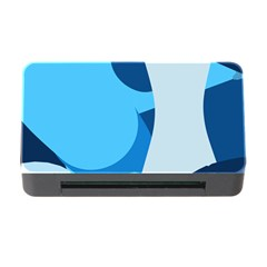 Blue Polka Memory Card Reader With Cf by Mariart