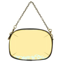 Bubbles Yellow Blue White Polka Chain Purses (one Side)  by Mariart