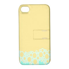 Bubbles Yellow Blue White Polka Apple Iphone 4/4s Hardshell Case With Stand by Mariart