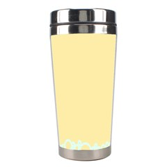 Bubbles Yellow Blue White Polka Stainless Steel Travel Tumblers by Mariart