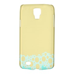 Bubbles Yellow Blue White Polka Galaxy S4 Active by Mariart