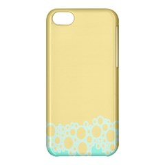 Bubbles Yellow Blue White Polka Apple Iphone 5c Hardshell Case by Mariart