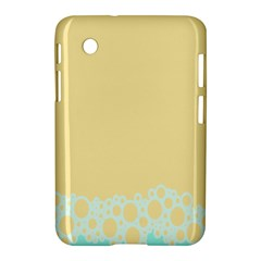 Bubbles Yellow Blue White Polka Samsung Galaxy Tab 2 (7 ) P3100 Hardshell Case  by Mariart