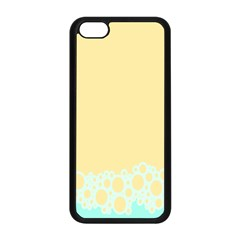 Bubbles Yellow Blue White Polka Apple Iphone 5c Seamless Case (black) by Mariart