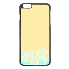 Bubbles Yellow Blue White Polka Apple Iphone 6 Plus/6s Plus Black Enamel Case by Mariart