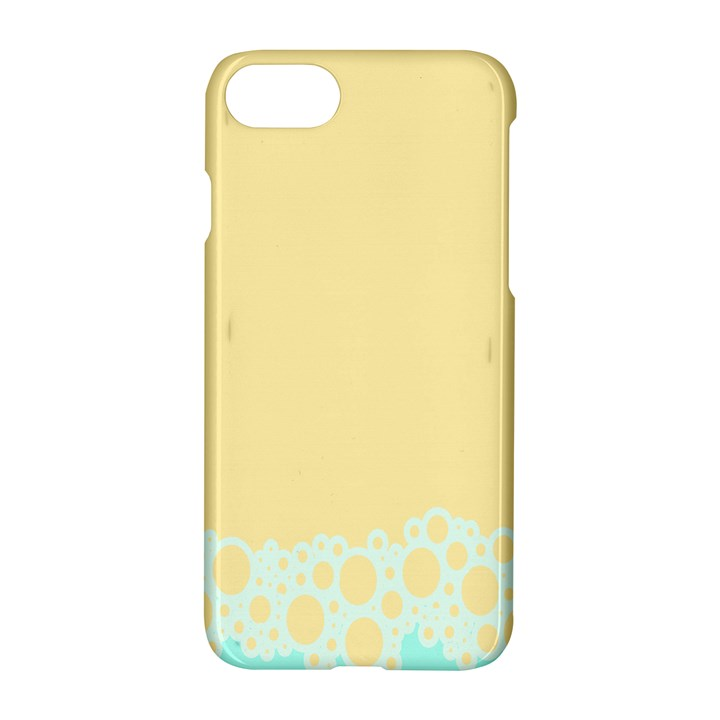 Bubbles Yellow Blue White Polka Apple iPhone 7 Hardshell Case