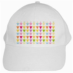 Bunting Triangle Color Rainbow White Cap by Mariart