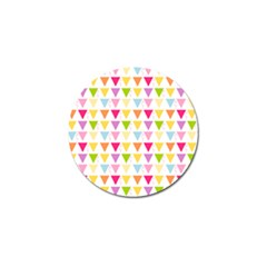 Bunting Triangle Color Rainbow Golf Ball Marker by Mariart