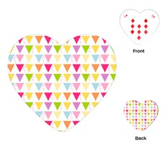 Bunting Triangle Color Rainbow Playing Cards (heart)  by Mariart