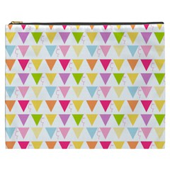 Bunting Triangle Color Rainbow Cosmetic Bag (xxxl)  by Mariart