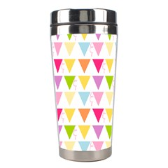 Bunting Triangle Color Rainbow Stainless Steel Travel Tumblers by Mariart