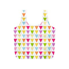 Bunting Triangle Color Rainbow Full Print Recycle Bags (s)  by Mariart