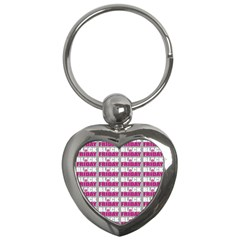 Black Friday Sale White Pink Disc Key Chains (heart)  by Mariart