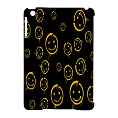 Face Smile Bored Mask Yellow Black Apple Ipad Mini Hardshell Case (compatible With Smart Cover) by Mariart