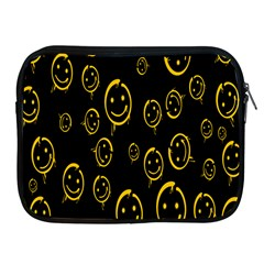 Face Smile Bored Mask Yellow Black Apple Ipad 2/3/4 Zipper Cases by Mariart