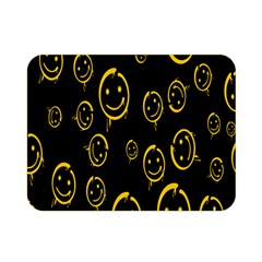 Face Smile Bored Mask Yellow Black Double Sided Flano Blanket (mini)  by Mariart