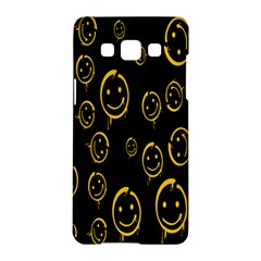 Face Smile Bored Mask Yellow Black Samsung Galaxy A5 Hardshell Case  by Mariart