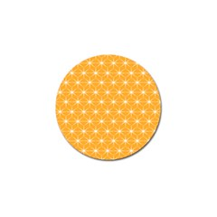 Yellow Stars Iso Line White Golf Ball Marker (10 Pack) by Mariart