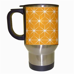 Yellow Stars Iso Line White Travel Mugs (white) by Mariart