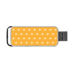 Yellow Stars Iso Line White Portable Usb Flash (two Sides) by Mariart