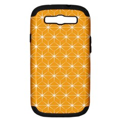 Yellow Stars Iso Line White Samsung Galaxy S Iii Hardshell Case (pc+silicone) by Mariart