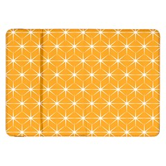 Yellow Stars Iso Line White Samsung Galaxy Tab 8 9  P7300 Flip Case by Mariart