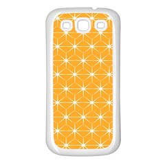 Yellow Stars Iso Line White Samsung Galaxy S3 Back Case (white) by Mariart