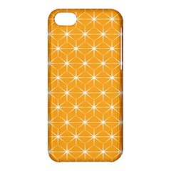 Yellow Stars Iso Line White Apple Iphone 5c Hardshell Case by Mariart