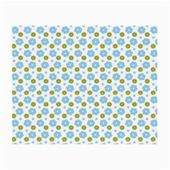 Blue Yellow Star Sunflower Flower Floral Small Glasses Cloth by Mariart