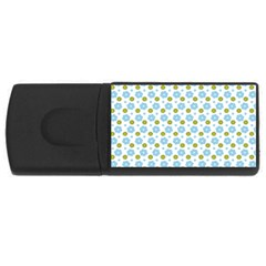 Blue Yellow Star Sunflower Flower Floral Usb Flash Drive Rectangular (4 Gb) by Mariart
