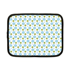 Blue Yellow Star Sunflower Flower Floral Netbook Case (small)  by Mariart