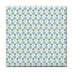 Blue Yellow Star Sunflower Flower Floral Face Towel by Mariart