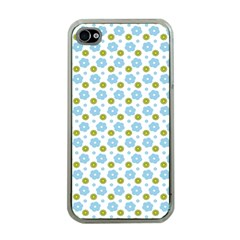 Blue Yellow Star Sunflower Flower Floral Apple Iphone 4 Case (clear) by Mariart