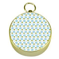 Blue Yellow Star Sunflower Flower Floral Gold Compasses by Mariart