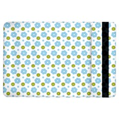 Blue Yellow Star Sunflower Flower Floral Ipad Air Flip by Mariart