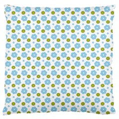 Blue Yellow Star Sunflower Flower Floral Standard Flano Cushion Case (one Side) by Mariart