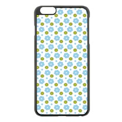 Blue Yellow Star Sunflower Flower Floral Apple Iphone 6 Plus/6s Plus Black Enamel Case by Mariart