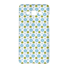 Blue Yellow Star Sunflower Flower Floral Samsung Galaxy A5 Hardshell Case  by Mariart