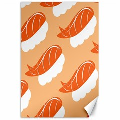 Fish Eat Japanese Sushi Canvas 24  X 36  by Mariart