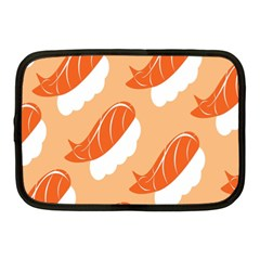 Fish Eat Japanese Sushi Netbook Case (medium)  by Mariart