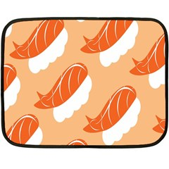 Fish Eat Japanese Sushi Double Sided Fleece Blanket (mini)  by Mariart